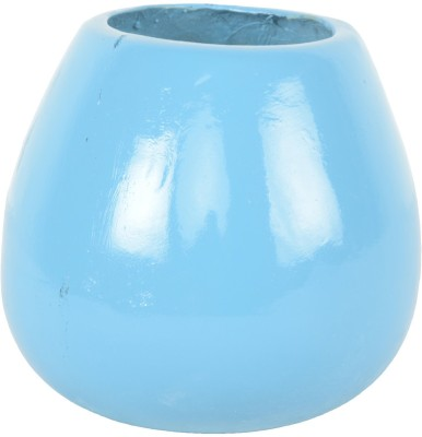 Garden Jewels Mini Round Planter Sky Blue Plant Container
