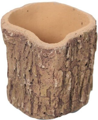 Gaia Pottery Gaia Woodlike planter - Natural Look Plant Container