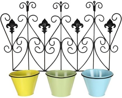 Wonderland Wall Set Of 3 Pot Stand Plant Container