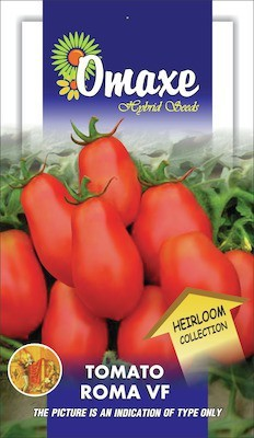 Omaxe TOMATO HEIRLOOM ROMA VF 50 SEEDS PACK BY OMAXE Seed