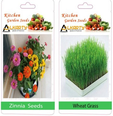 Alkarty Wheat grass, Zinnia Seed