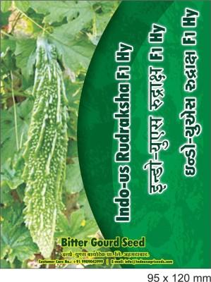 Indous Agriseeds Indo Us Rudraksha F1.Hy. Bitter gourd 250 seeds per packet Seed
