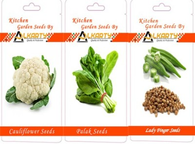 Alkarty Cauliflower Spinach(palak) And Lady Finger Seed