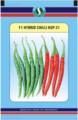 Sungro Seeds Limited Hybrid Chilli Seeds (Pack of two) Seed