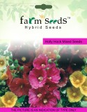 FARM SEEDS Holly Hock Mixed 2 Packet See...