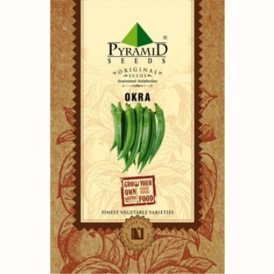 Pyramid Seeds Okra (Lady Finger) Seed(50 per packet)