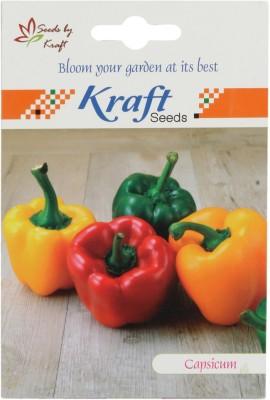 Kraft Seeds Hybrid Capsicum (Red) Vegetable Seed