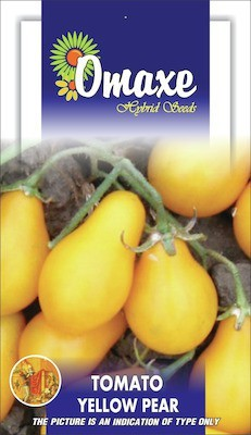 Omaxe TOMATO YELLOW PEAR SHAPED 40/50+ SEEDS PACK BY OMAXE Seed