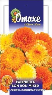 Omaxe CALENDULA BON BON MIXED WINTER FLOWER 50 SEEDS PACK BY OMAXE Seed