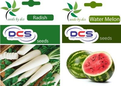 DCS Radish and Water melon (Pack of 2 per pack 50 seeds) Seed