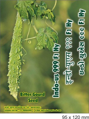 Indous Agriseeds Indo Us 999 F1.Hy.Bitter Gourd 250 Seeds Per Packet Seed
