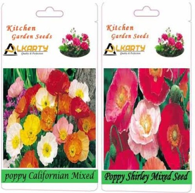 Alkarty Poppy Californian Mixed and Poppy Shirley Mixed (Winter) Seed