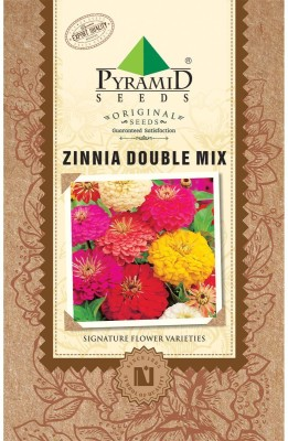 PYRAMID SEEDS Zinnia Double Mix Seed
