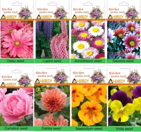 Alkarty winter flower seed kit-2 for 8 (20 seed each) Seed(20 per packet)