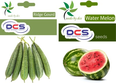 DCS Ridge Gourd & Water Melon (2 Pack of 50) Seed