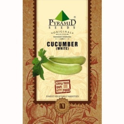 Pyramid Seeds White Cucumber (Khira) Seed(50 per packet)