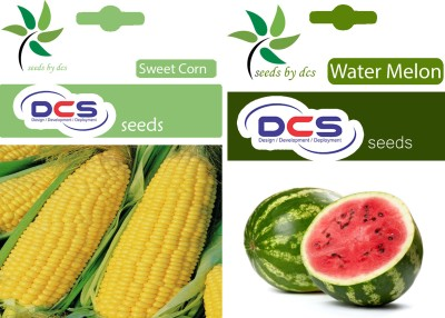 DCS Sweet Corn & Water Melon (2 Pack of Seeds 50) Seed