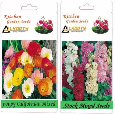 Alkarty Poppy Californian Mixed and Stock Mixed (Winter) Seed