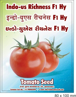 Indous Agriseeds IndoUs Richnesh F1 Hy, Tomato 200 seeds per packet Seed