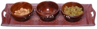 Onlineshoppee Sheesham Solid Wood Tray