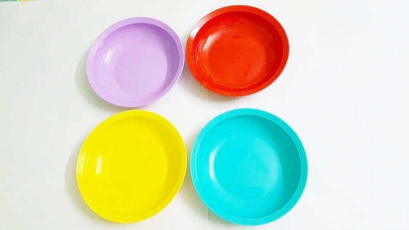 Tupperware Expression flat Solid Plastic Dish Set(Multicolor, Pack of 4)