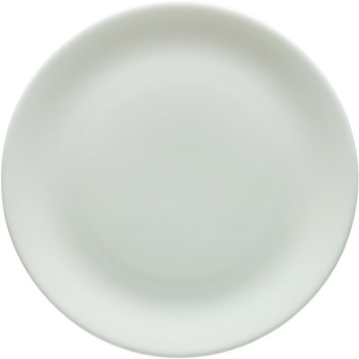 HomeStop White Coupe Dinner Plate Solid Bone China Plate