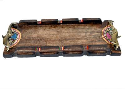 VarEesha Solid Wood Tray
