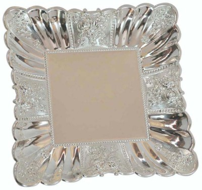 Sambhav Products Squre Tray Solid Silver Plated Plate