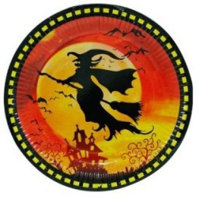 Smartcraft Halloween Witch Solid Paper Plate