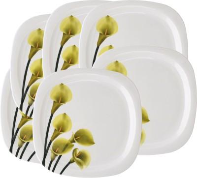 Mehul 13 inch Square D-4003 Five Flower Printed Melamine Plate Set