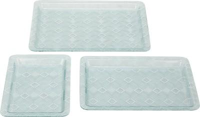 Pratha Grace Printed Plastic Tray Set