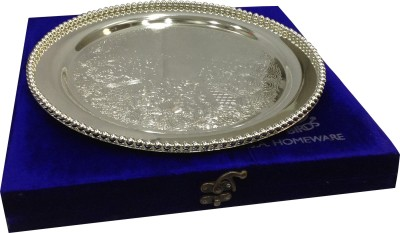 Blue Birds German Solid Silver Plated Tray