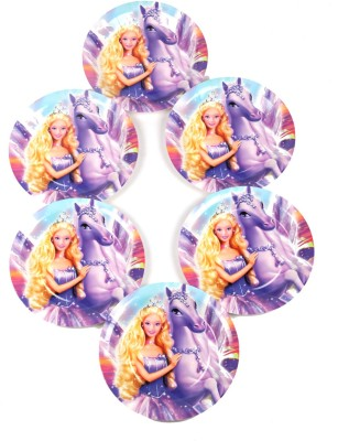 Funcart Riding Princess Theme 9 Printed Paper Plate