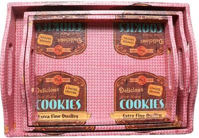 i-am Fresh Baked Cookies Printed Wood Tray Set