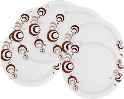 Mehul 7 inch Sonata D-2013 Brown Bubbles Printed Melamine Plate Set