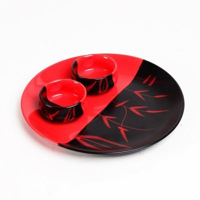Cultural Concepts Duett Plate Printed Ceramic Plate Set