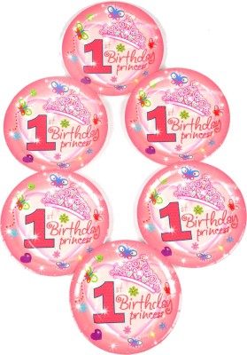 Funcart Sweet At One Princess Theme 7 Printed Paper Plate