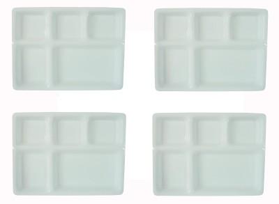 Delite Solid Plastic Plate Set(White, Pack of 4) at flipkart