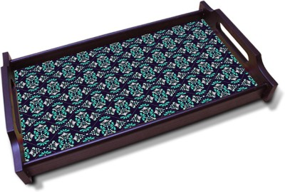 Kolorobia Engaging Oxford Blue Solid Wood Tray