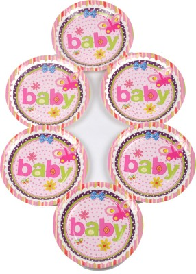 Funcart Butterfly Baby Theme 9 Inch Printed Paper Plate