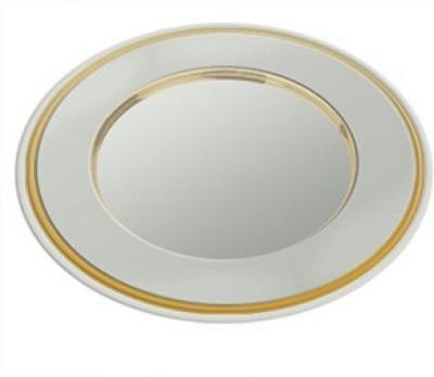 Treta Round Fine Detail Motifs Solid Silver Plated Plate