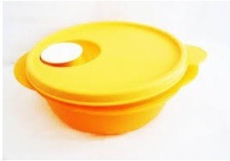 Tupperware Crystalwave Microwave Solid Plastic Dish(Yellow, Pack of 1)