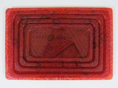 Chhajer Handicraft Royal Serving Trays Set Solid Plastic Tray