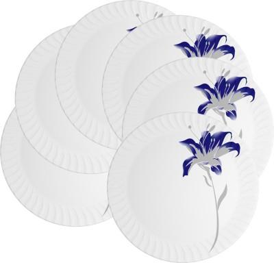 Mehul 13 Inch D-2023 Magnetic Dish Rajeshwari 6 Pcs Printed Melamine Plate Set