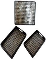 The Art Treasure Shadow Iris Solid Wood Tray Set(Black, White, Pack of 3) best price on Flipkart @ Rs. 6000