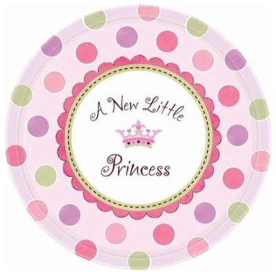 Amscan Little Princess Round 10.5 Inches Printed Paper Plate