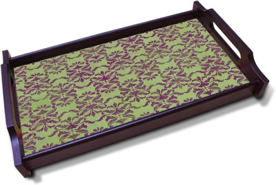 Kolorobia Enthralling Olive Green Solid Wood Tray