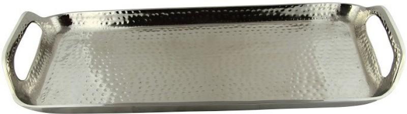 Aurazstore Unique Solid Aluminium Tray(Silver, Pack of 1)