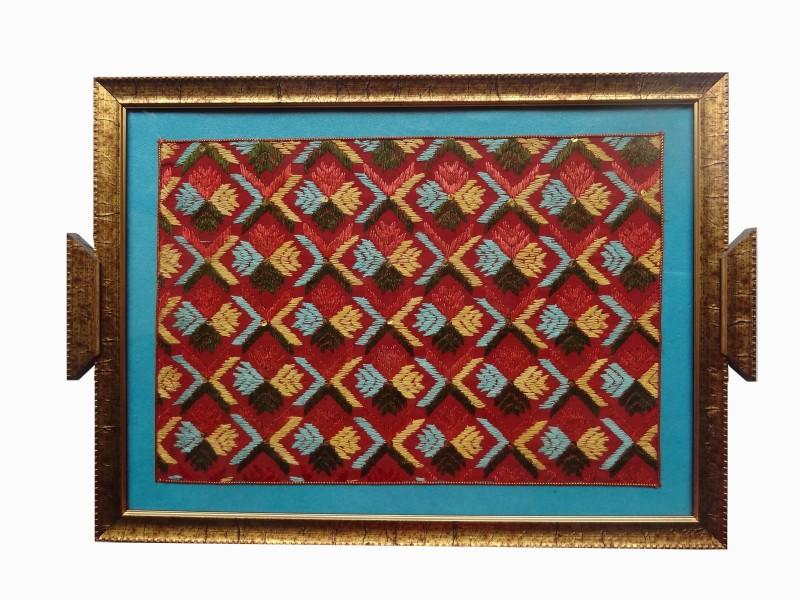Handmade Kreation Designer Solid Glass Tray(Multicolor, Pack of 1)