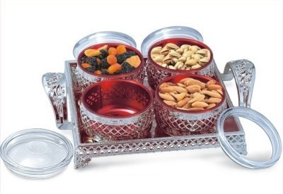 SELVEL Solid Plastic Tray Set